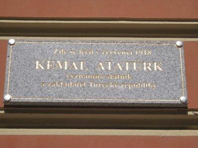 Karlovy Vary, Atatürk Ziyareti 1918