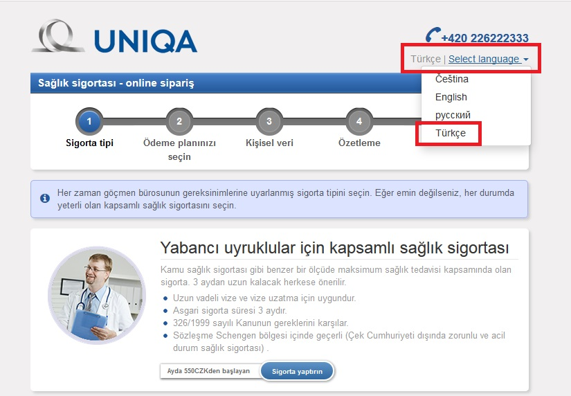 ÇEKTÜRK AND UNIQA COOPERATION : HEALTH INSURANCE IN TURKISH