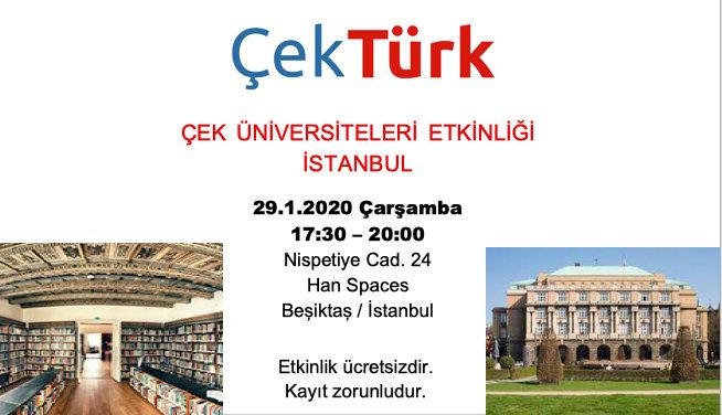 ÇekTürk Çek Üniversiteleri Etkinliği, İstanbul 29.1.2020