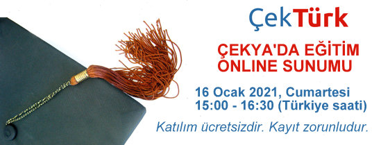 ÇekTürk ile Çekya'da Eğitim Sunumu 16 Ocak 2021